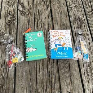2 Dr Seuss Repurposed Kids Books Journals *Extras